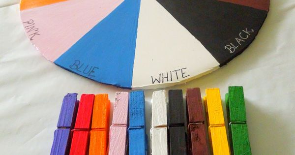 Teaching toddlers their colors using the color wheel. efl education (repinned by Super Simple Songs)