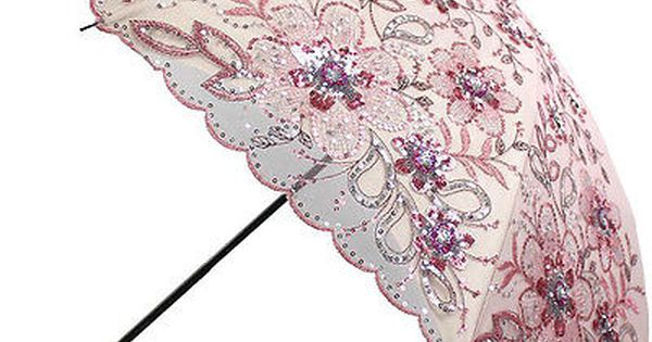 Fashion Lace Double layer Embroidery Umbrellas Umbrella Rain Woman Black Rubber Anti UV Three folding Sunny Female Umbrellas,Light Grey