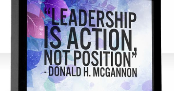 leadership is action not position essay topic