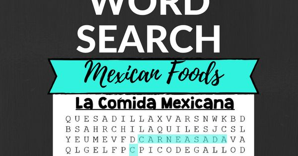 Mexican Foods Alphabetical Order