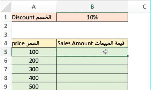 المراجع أو العلامات المطلقة الثابتة Absolute References Excel Tutorials Microsoft Excel Tutorial Excel