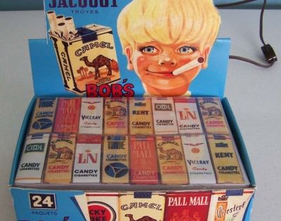 Candy cigarettes! I liked how they tasted, but they never made me
