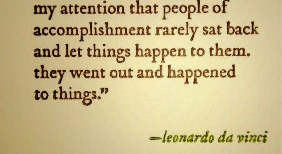 Monday's Quote: Ambition | The Sparrow's Nest leonardo da Vinci.