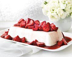 Buttermilk Jelly With Wine Stewed Strawberries Jelly Desserts Dessert Recipes Desserts