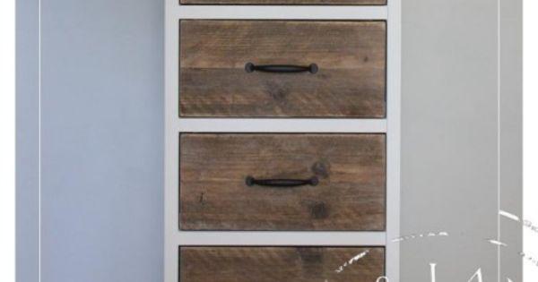 Smal kastje voor in de gang meubels pinterest bos en oud hout for Schilderen voor gang d