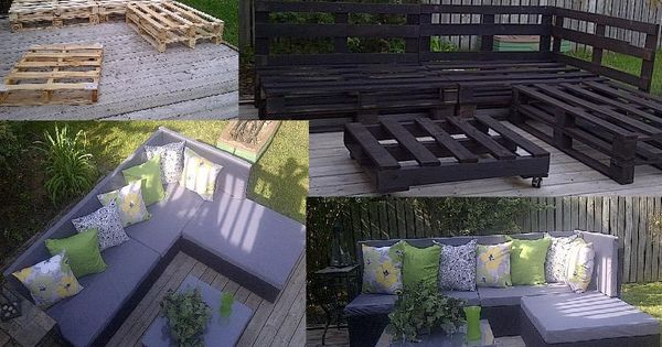 wood pallet deck furniture | LPT: Turn a few wooden pallets into