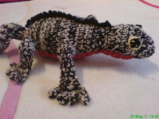 Amigurumi Crochet Gecko Bookmark -