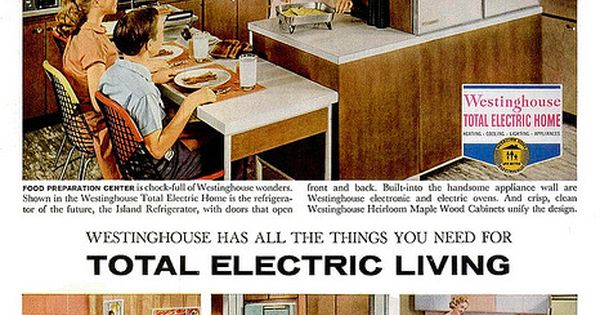 1959 westinghouse total electric living ad calgon take me away pinterest home photos - Westinghouse and living ...