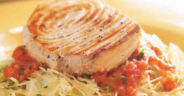 Pan-Seared Swordfish with Tomato Sauce and Spaghetti Squash Recipes ...