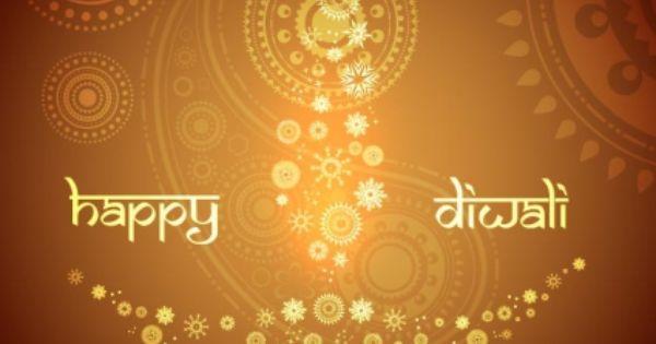 Free Vector Floral Art Pattern Diya Design Happy Diwali Greeting Card Template Free Vector In Encapsulated Diwali Greeting Cards Diwali Greetings Happy Diwali