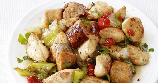Chicken, Sausage and Peppers Recipe : Food Network Kitchens : Food Network