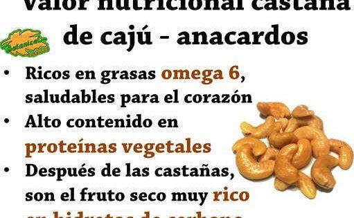 Propiedades De Anacardos O Castaña De Caju Valor Nutricional Castañas De Caju Anacardo Beneficios De Alimentos
