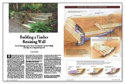 Building A Timber Retaining Wall Retaining Wall Retaining Wall