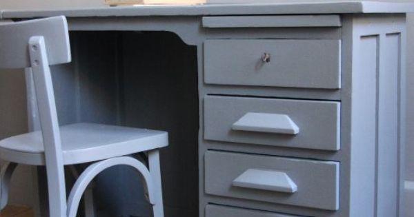 Petite belette meubles vintage revisit s bureau de comptable customisatio - Relooking meuble vintage ...