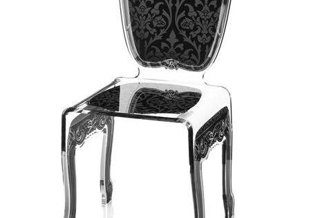 Chaise Acrylique Baroque Noire Chaise Fauteuil L Gance