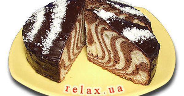 зебра пирог рецепт с фото
