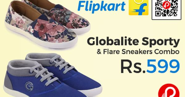 Globalite Sporty Flare Sneakers Combo At Rs 599 Only Flipkart Sneakers Casual Shoes Women Sporty