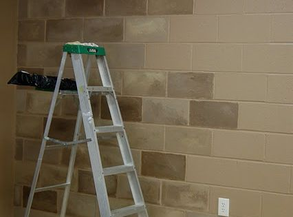Painting Cinder Block Diy Unfinished Basement Decorating