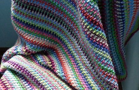 Ravelry: lyndamks Wildflowers Blanket Crochet Pinterest Moss stitc...