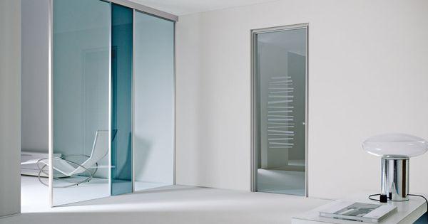 Porta a battente vetro trasparente decoro sabbiato - Controtelaio porta battente ...