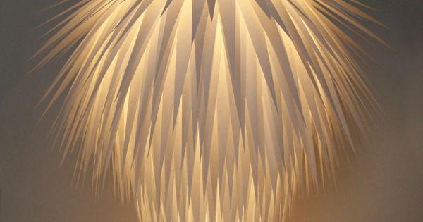 Lustre en papier ivoire pinterest lustre luminaires for Lustre en papier