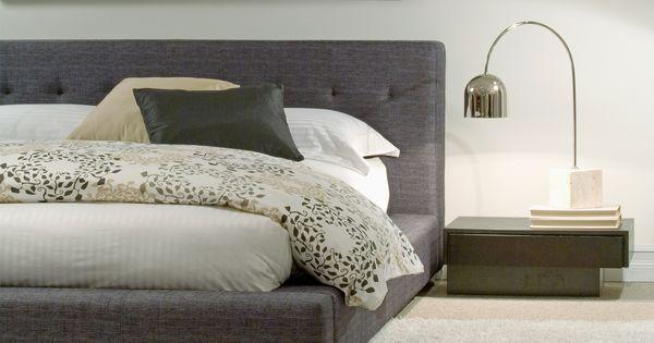 Lit de tissu de style moderne t te de lit capitonn e choix de tissus furnishings - Tete cherry bed ...