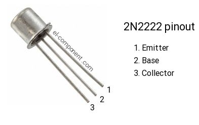 2n2222 Transistor Pinout Transistors Electronic Circuit Design Electronics Basics