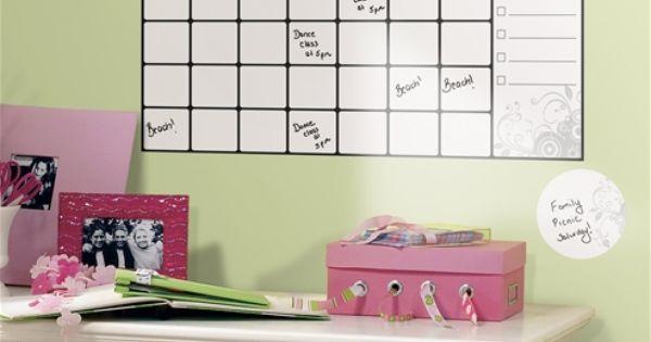 RoomMates Dry Erase Calendar Peel & Stick WallDecal — QVC.com