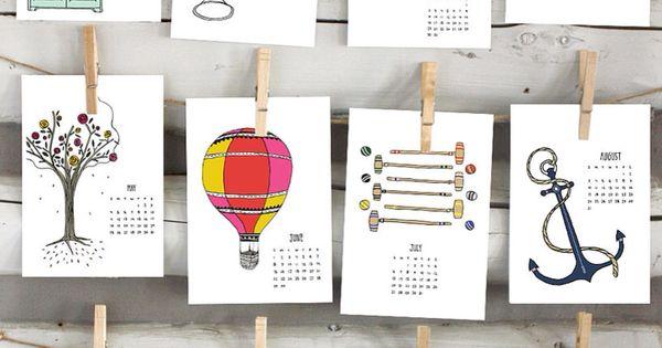 Calendar Illustration Ideas : Calendar ideas diy pinterest