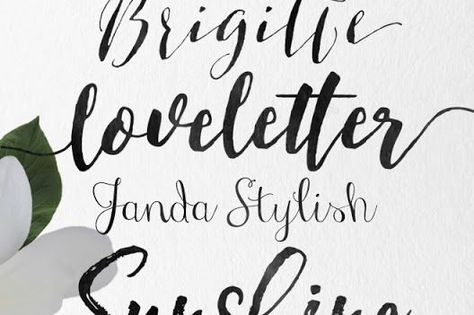 Skyla Design Calligraphy Wedding Fonts Some Free