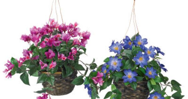 Hanging Flower Baskets Michaels : Fake flowers hanging basket at michael s flower