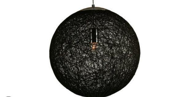 Chericoni palla hanglamp 60 cm zwart hanglamp for Lampen 60 cm