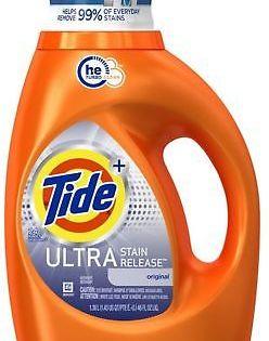 Detergents 78691 Tide Liquid Laundry Detergent Ultra Stain