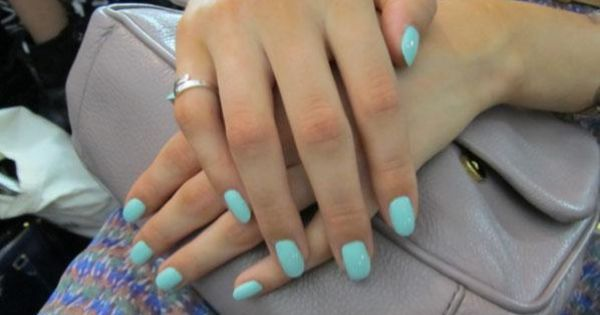 "Essie ""Candy Apple"" manicures at the Rebecca Minkoff Spring 2013 runway show."