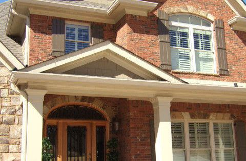 Beautiful rock siding for houses traditional exterior - Orange brick color schemes ...
