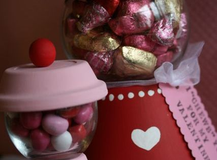 Gumball Machine Candy dish... cute idea for a teacher gift