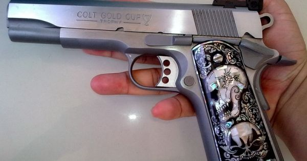 Mother Of Pearl Inlay Grips Fit Smith Amp Wesson Taurus
