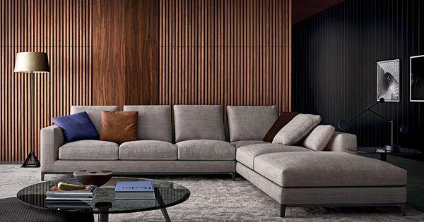Sof modular moderno de cuero de tela andersen for Sofa modular tela