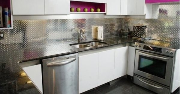 Aluminium Splashback Good Alternative To Tiles No Grout