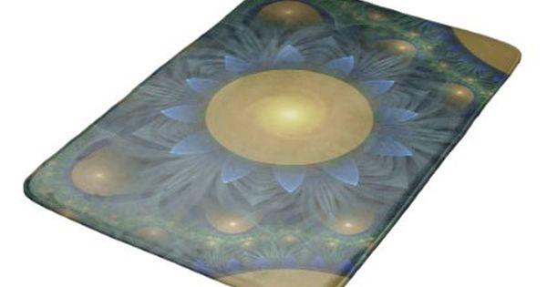 Bathroom Accessories Egypt beautiful orange & blue fractal sunflower of egypt bath mat