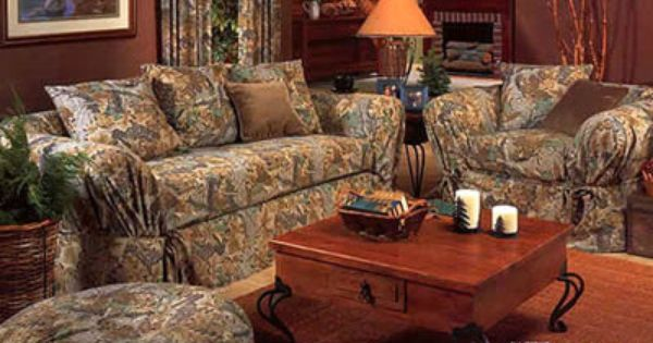 Advantage Sofa And Chair Slip Covers, Camo Furniture Covers