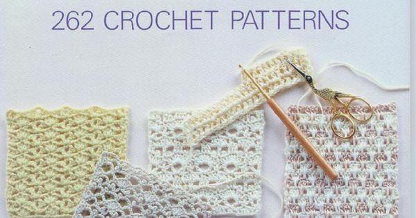 262 Patrones de crochet Crochet diagram, Stitches and Pdf book