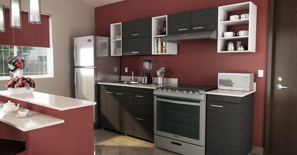 Renueva tu cocina con gabinetes color gris y combina con for Disena tu cocina en linea