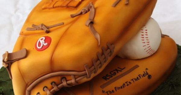 Baseball glove cake/ grooms cake