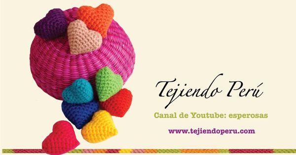 Tutorial Delfin Amigurumi : Corazon de San Valent?n tejidos en crochet crochet ...