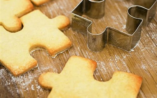 Jigsaw Cookie Cutter diy puzzle cookies Autism Awareness