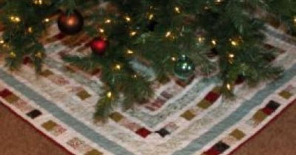 Patchwork Square Christmas Tree Skirt