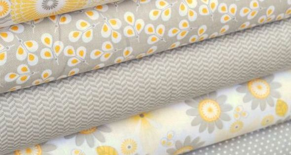 Riley Blake S New Willow Collection In Yellow And Gray