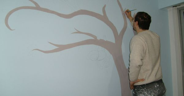 Dibujar un arbol en la pared decoracion pinterest for Como dibujar un mural en la pared
