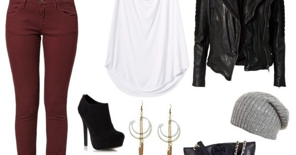 Outfits wine colored jeans Women's Colored